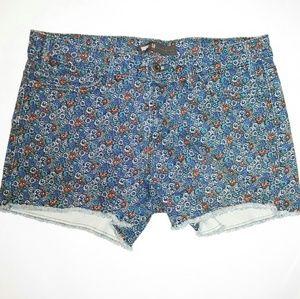 Levis Cut Off Jeans Shorts Hem Flower Cutoff 10
